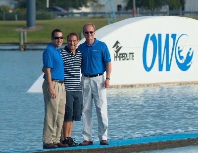 Correct Craft's Bill Yeargin and Sean Marrero at OWC with its founder Rene Hofmann